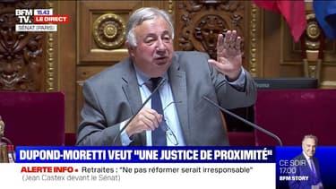 Justice: Eric Dupond-Moretti interpellé au Sénat