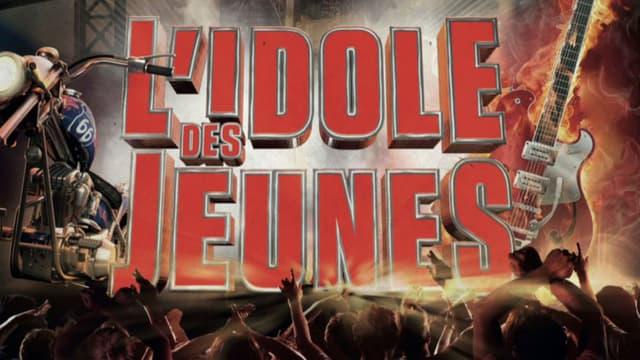"""Affiche du spectacle """"L'idole des jeunes"""" sur Johnny Hallyday"""