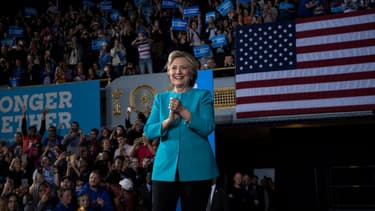 Hillary Clinton à Cleveland, dans l'Ohio le 6 novembre
