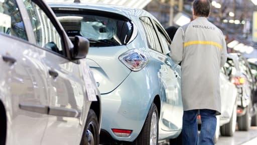 L'usine de Flins gère la production de Zoe, la tout électrique de Renault.