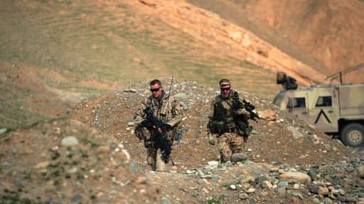 Deux soldats allemands en Afghanistan, le 27 mars 2012 (Photo d'illustration).