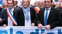 Marine Le Pen a modifié l'organigramme de son parti. Nicolas Bay (à gauche) devient secrétaire général. Florian Philippot (à droite) reste vice-président.