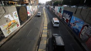 Une rue à Bagdad (illustration)