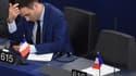 Florian Philippot le 14 mars 2017 au Parlement européen, à Strasbourg.