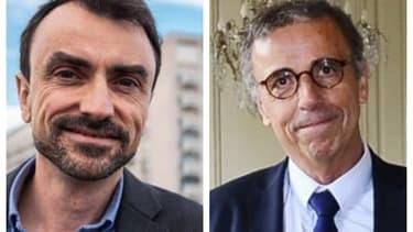 David Doucet, maire de Lyon, et Pierre Hurmic, maire de Bordeaux.
