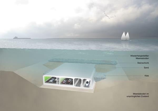 Des tronçons de 72.000 tonnes seront mis bout à bout par 35 mètres de fonds