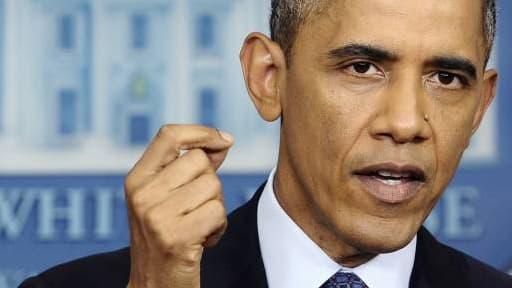 Barack Obama a mis un peu plus la pression sur les républicains, peu avant de les rencontrer.