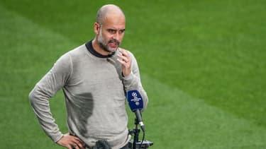 Pep Guardiola face à la presse après City-Real