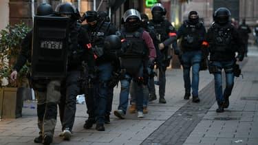 Intervention de la BRI dans les rues de Strasbourg, le 12 décembre 2018