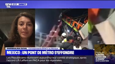 Un pont s'effondre à Mexico au moment où une rame de métro passait dessus