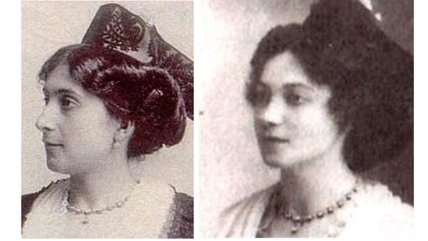 A gauche Jeanne Calment, à droite Yvonne