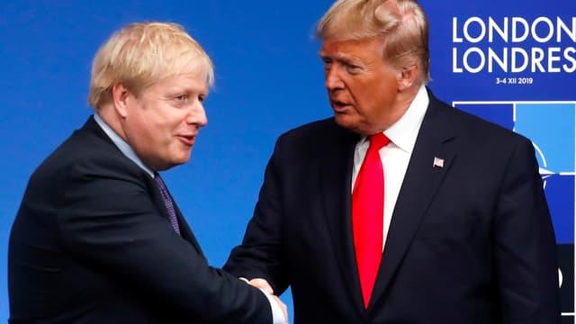 Boris Johnson et Donald Trump lors du sommet de l'OTAN à Londres le 4 décembre 2019