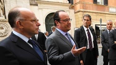 François Hollande face aux journalistes à Rome, le 17 août.