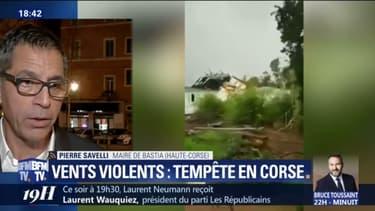 """Tempête en Corse: """"on nous annonce des vents très très forts dans l'heure qui va venir"""" explique le maire de Bastia"""