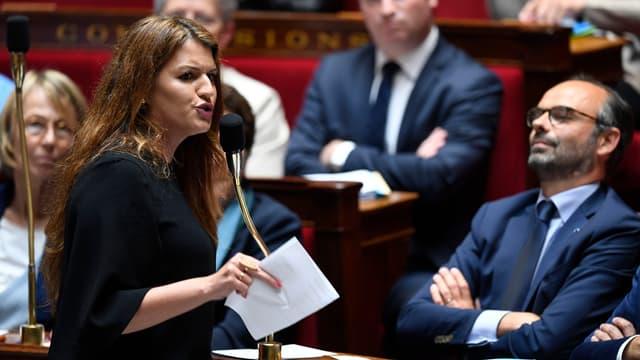 Marlène Schiappa à l'Assemblée nationale, le 15 mai 2018.
