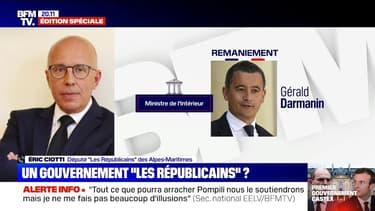 """Éric Ciotti (LR) sur le remaniement: """"Il y a une grande continuité avec le gouvernement d'Édouard Philippe"""""""