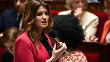 Marlène Schiappa lors d'une séance de questions au gouvernement à l'Assemblée nationale, le 9 juillet 2019