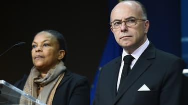 Christiane Taubira et Bernard Cazeneuve, le 20 novembre 2015.