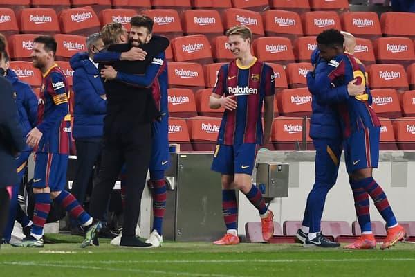 Scène de joie et de communion au sein du Barça