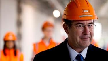 Martin Bouygues en visite sur le chantier du nouveau ministère de la Défense à Paris.