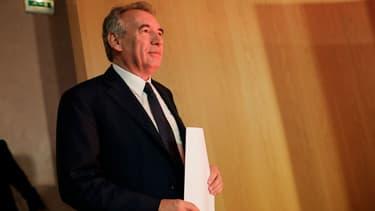 François Bayrou lors d'une conférence de presse du Modem, le 21 juin 2017.