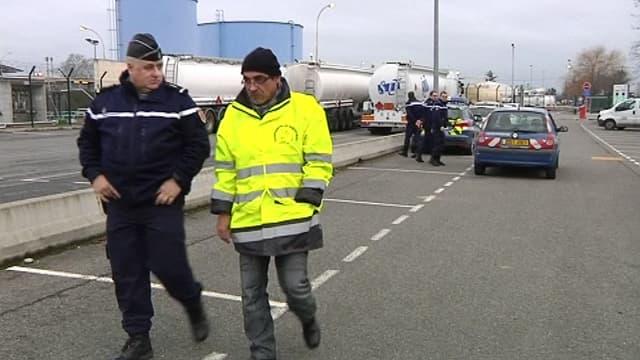 Blocage de routiers à Toulouse, le 19 janvier.