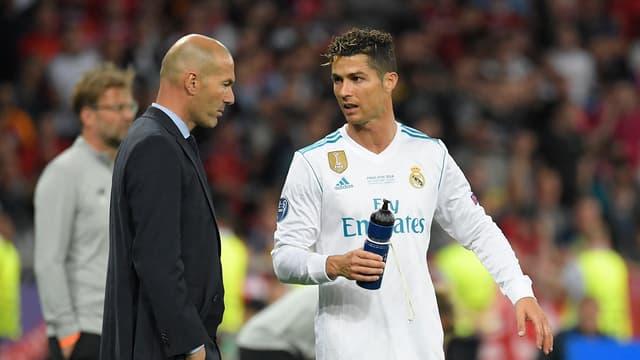 Zinedine Zidane et Cristiano Ronaldo au Real Madrid en 2018