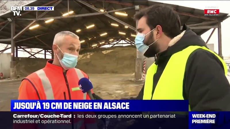 Opération salage en Alsace, où jusqu'à 19 cm de neige sont tombés