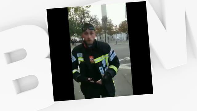 Un pompier blessé lors d'une manifestation des soldats du feu est suspendu par sa hiérarchie.