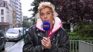 Frigide Barjot au micro de BFMTV, jeudi soir a remercié le ministre de l'Intrérieur pour la protection dont elle fera l'objet lors de la manifestation de dimanche.