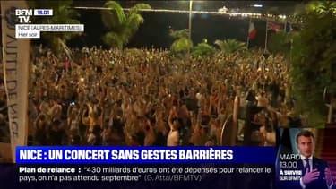 Un concert en plein air à Nice fait polémique