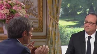 François Hollande en interview