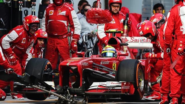 Felipe Massa au stand