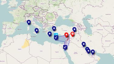 BFMTV.com a dressé la carte des forces militaires en présence dans la région, du côté occidental et du côté syrien.