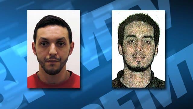 Mohamed Abrini et Najim Laachraoui, complices de Salah Abdeslam encore recherchés par les autorités.