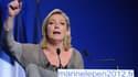 Marine Le Pen présidente du Front national, pendant la campagne présidentielle de 2012.