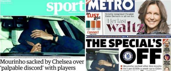 Le faux Mourinho à la une des journaux anglais, ce vendredi.