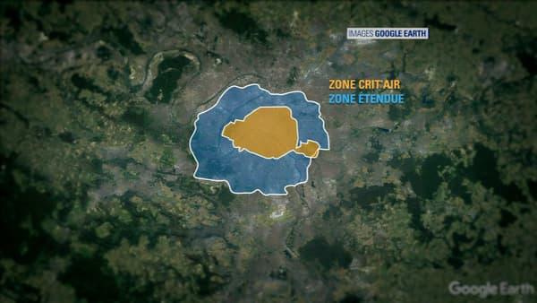 La vignette Crit'air pourrait devenir obligatoire dans la zone délimitée par l'A86.