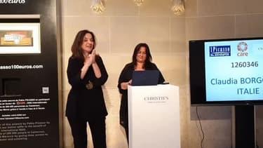 Une huile sur toile a été gagnée lors d'une loterie caritative organisée au profit de l'ONG Care chez Christie's à Paris.
