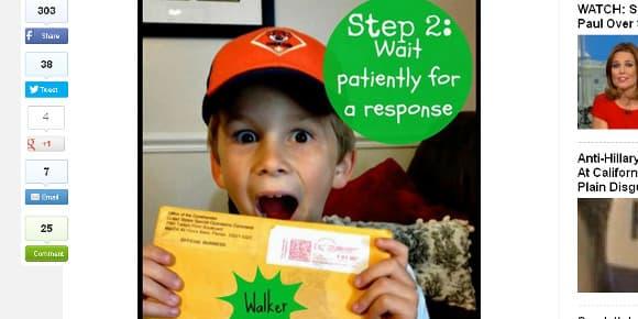 Le jeune Walker envoie sa lettre au chef des SEALs.