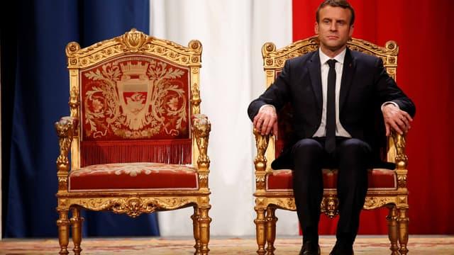 Emmanuel Macron, à l'Hôtel de Ville de Paris, le jour de son investiture.