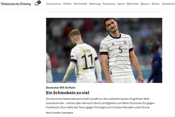 """""""Un tibia de trop"""" pour Süddeutsche Zeitung"""