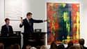 """""""Abstraktes Bild (809-4)"""", une toile abstraite de Gerhard Richter, a atteint vendredi un nouveau record d'enchères pour un artiste vivant avec un montant de 34,2 millions de dollars (26 millions d'euros). /Photo prise le 12 octobre 2012/REUTERS/Sotheby's"""