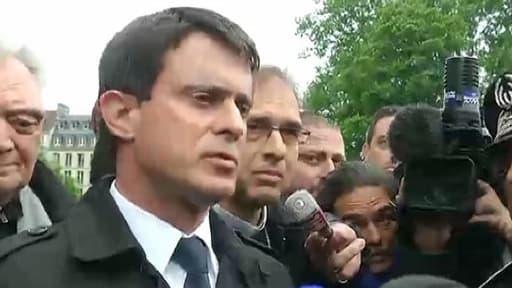 Manuel Valls, mardi 21 mai, à la cathédrale Notre-Dame de Paris