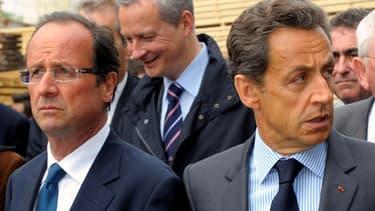 françois Hollande et Nicolas Sarkozy, c'est 84 nouveaux impôts en deux ans, révèle Le Monde.