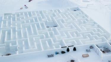Canada: le plus grand labyrinthe en neige du monde vient de rouvrir ses portes