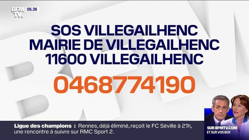 Inondations: le maire de Villegailhenc, dans l'Aude, lance un appel à l'aide