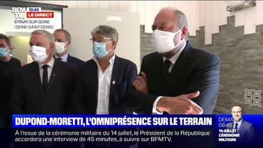 Éric Dupond-Moretti en visite dans un centre éducatif à Épinay-sur-Seine