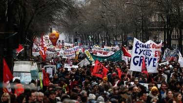La manifestation parisienne du jeudi 9 janvier