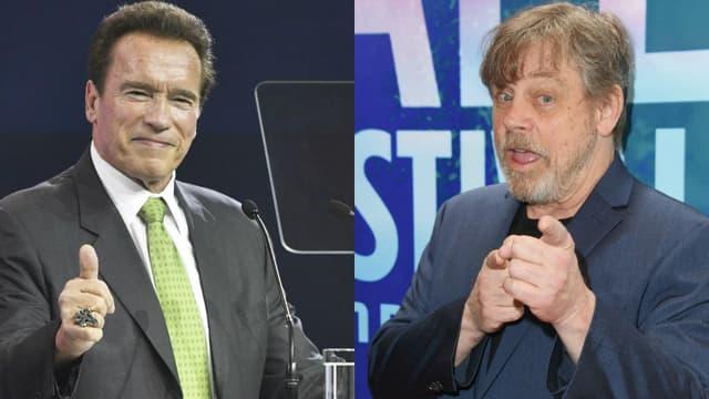 Arnold Schwarzenegger et Mark Hamill